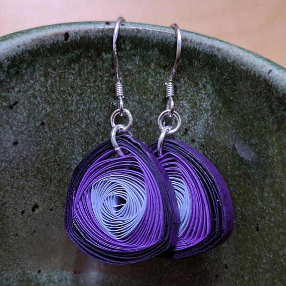 Paper Vortex Coil Earrings