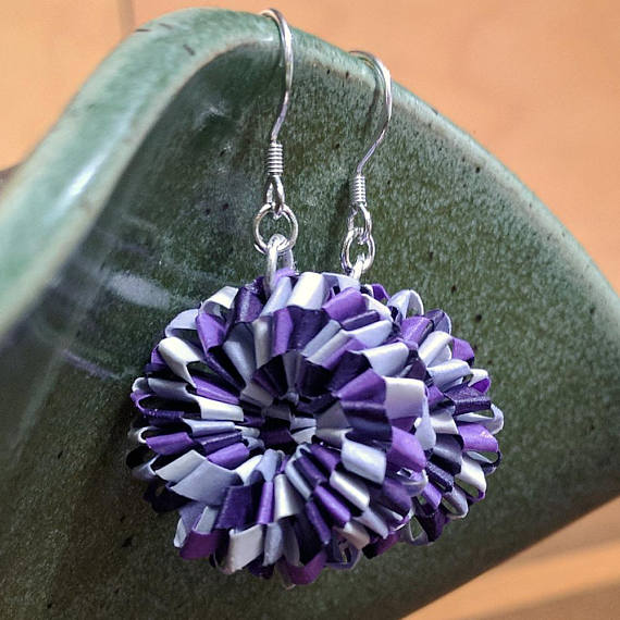Paper Woven Earrings