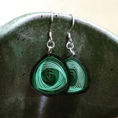 Green Vortex Earrings