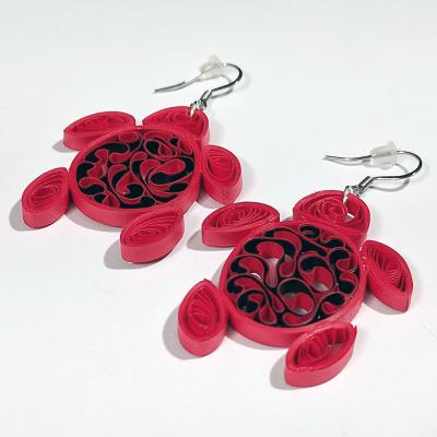 Custom Red Turtle Earrings