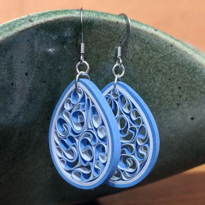 North Carolina Tar Heel Earrings