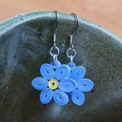 Forget Me Not Flower Earrings
