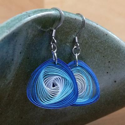 Shades of Blue Vortex Earrings