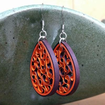 Virginia Tech Paper Earrings