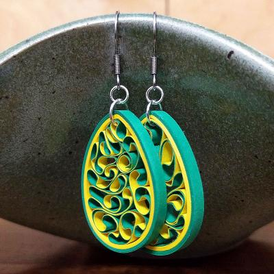 John Deere Green Earrings